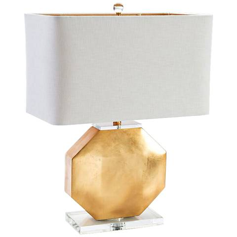 Couture Montage Gold Leaf Table Lamp