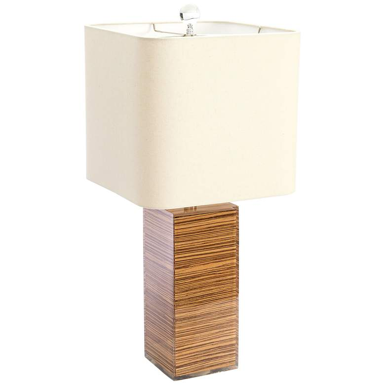 Couture Alta Natural Zebrawood Table Lamp