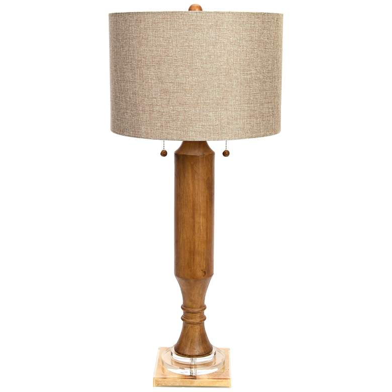 Couture Cambria Walnut Stained Rubberwood Buffet Lamp