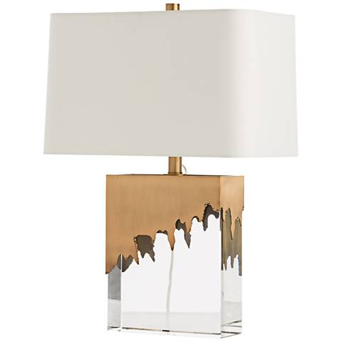 Frye Clear Crystal and Draped Accent Table Lamp
