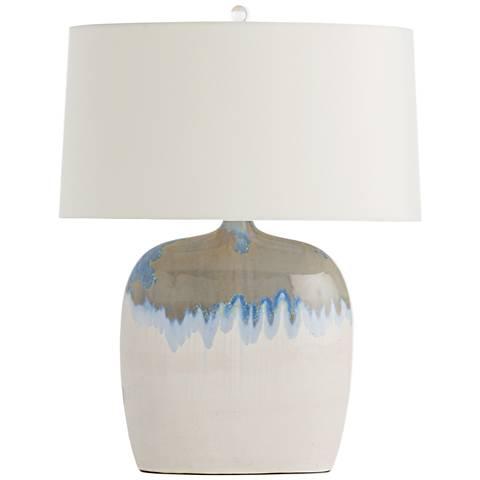 Arteriors Home Darwin Seaside Reactive Porcelain Table Lamp