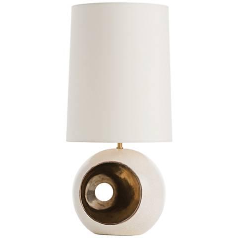 Arteriors Home Emmaline Gold Peek-A-Boo Porcelain Table Lamp