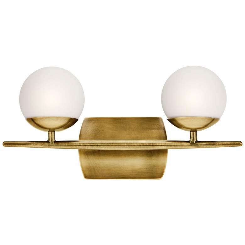 """Jasper 7 3/4"""" High Natural Brass 2-Light Halogen Wall Sconce"""
