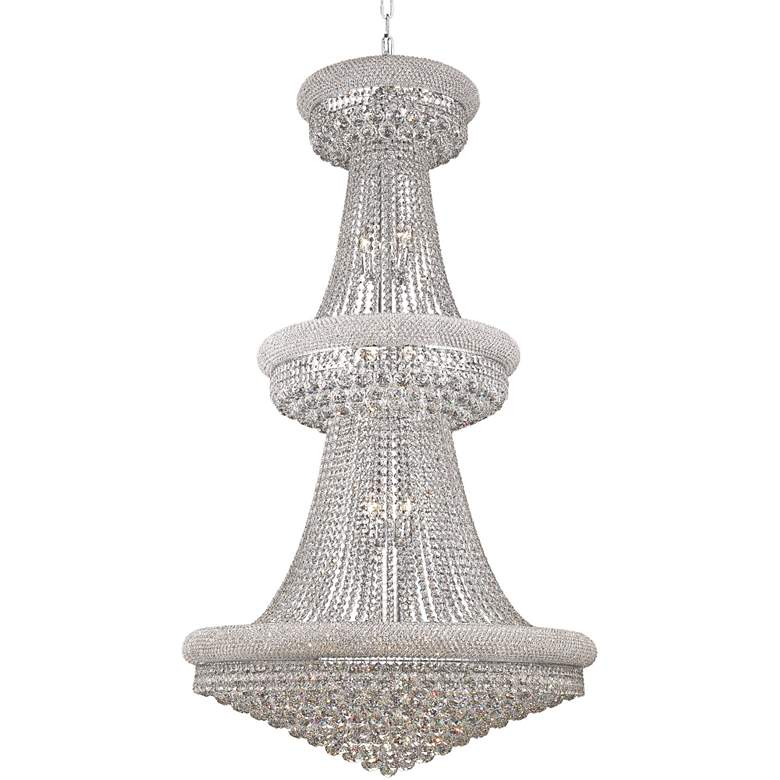 """Primo 36"""" Wide Royal Cut Clear Crystal 32-Light Chandelier"""