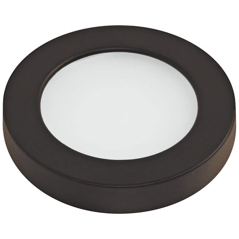"""WAC HR90 3"""" Wide Dark Bronze Edge-lit LED Button Light"""