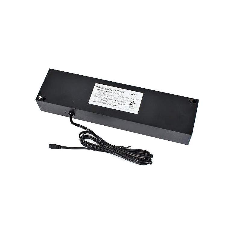 """WAC Power 12.63""""W Black 96 Watt Remote Class 2 Transformer"""