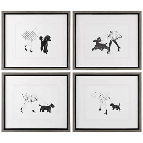 "Perfect Companions 25""W 4-Piece Framed Wall Art Set"