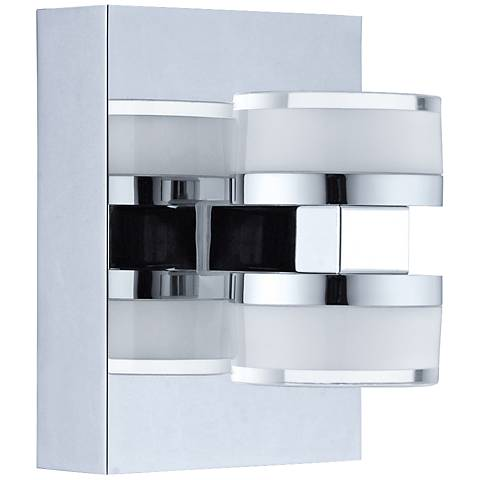 "Eglo Romendo 6 1/4"" High Chrome 2-Light LED Wall Sconce"