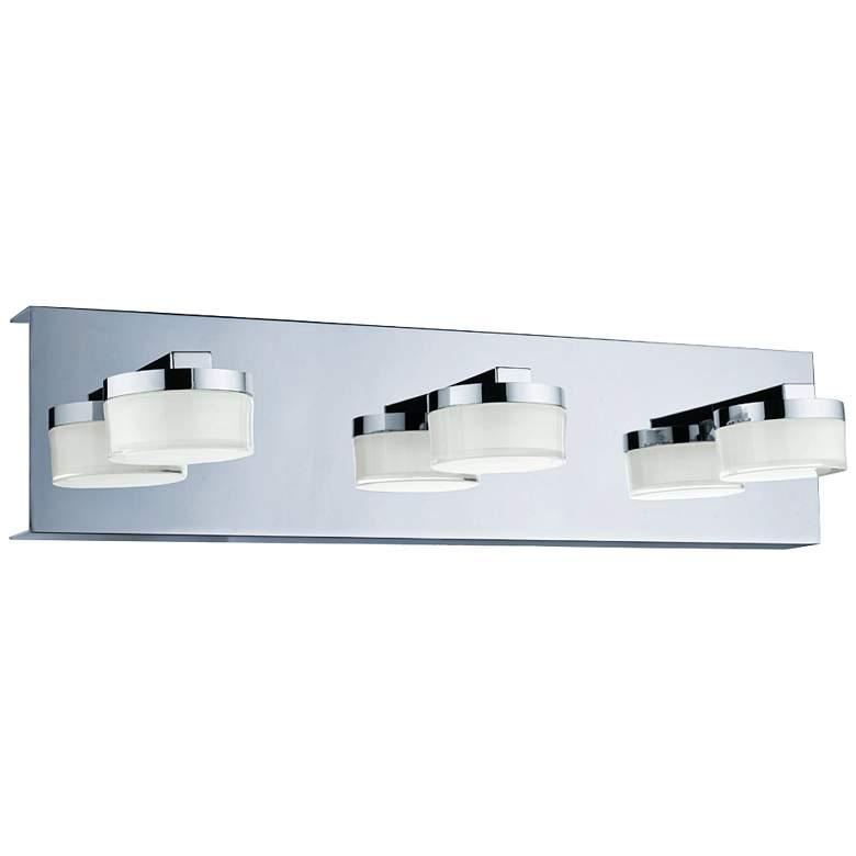 """Eglo Romendo 17 3/4"""" Wide Chrome 3-Light LED Bath Light"""