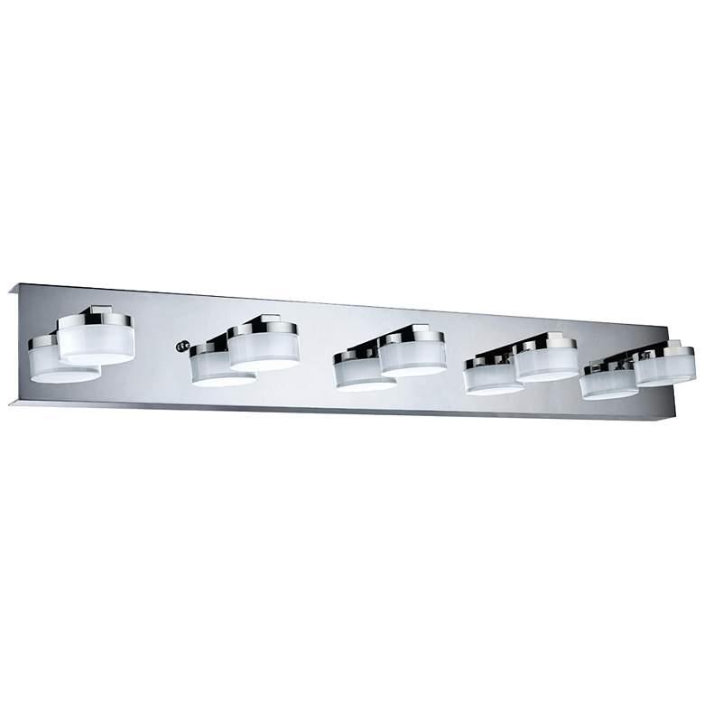 """Eglo Romendo 31"""" Wide Chrome 5-Light LED Bath Light"""
