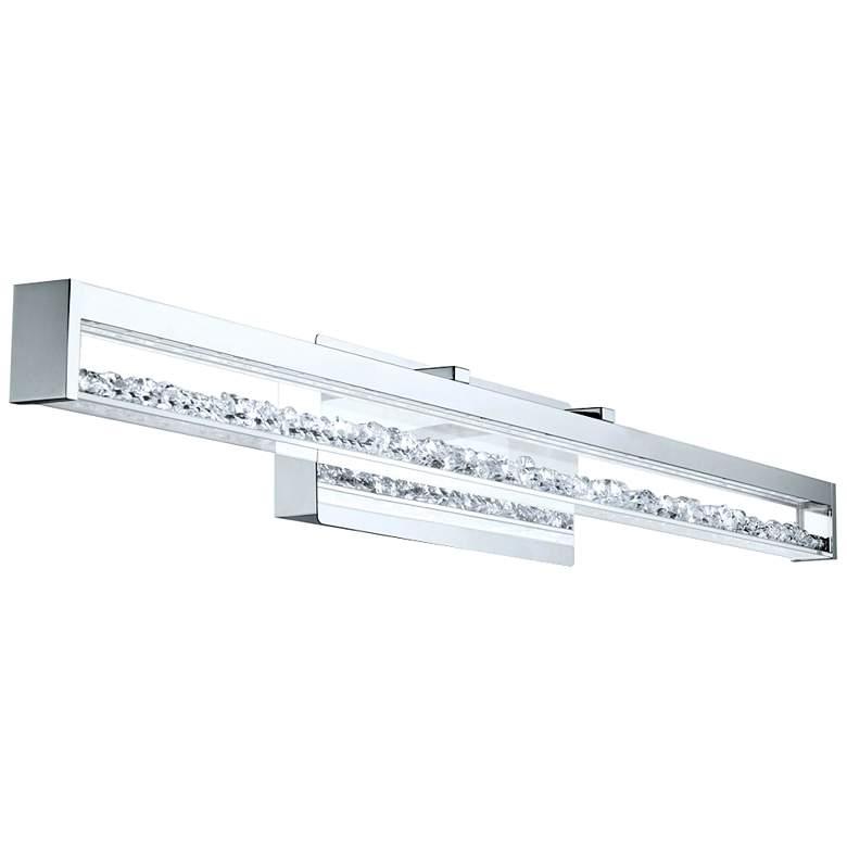"Eglo Cardito 39 1/2"" Wide Chrome LED Bath Light"