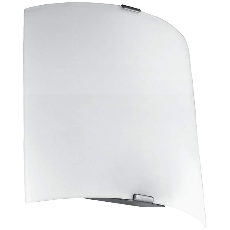 "Eglo Grafik 8 1/4"" High Silver LED Wall Sconce"