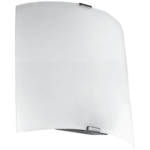 "Eglo Grafik 8 1/4"" High Silver LED Wall Sconce"
