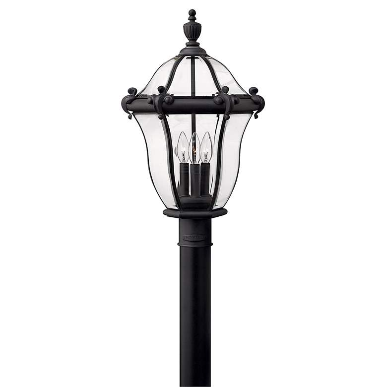 "Hinkley San Clemente 23"" High Black Outdoor Post"