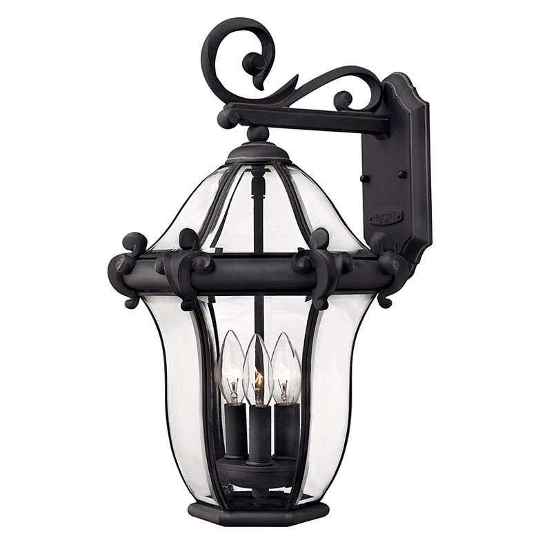 "Hinkley San Clemente 21"" High Black Outdoor Wall Light"