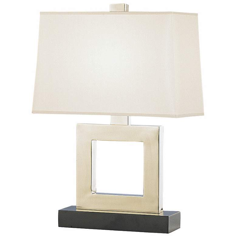 """Duncan 20 3/4"""" high Antique Silver Accent Table Lamp"""