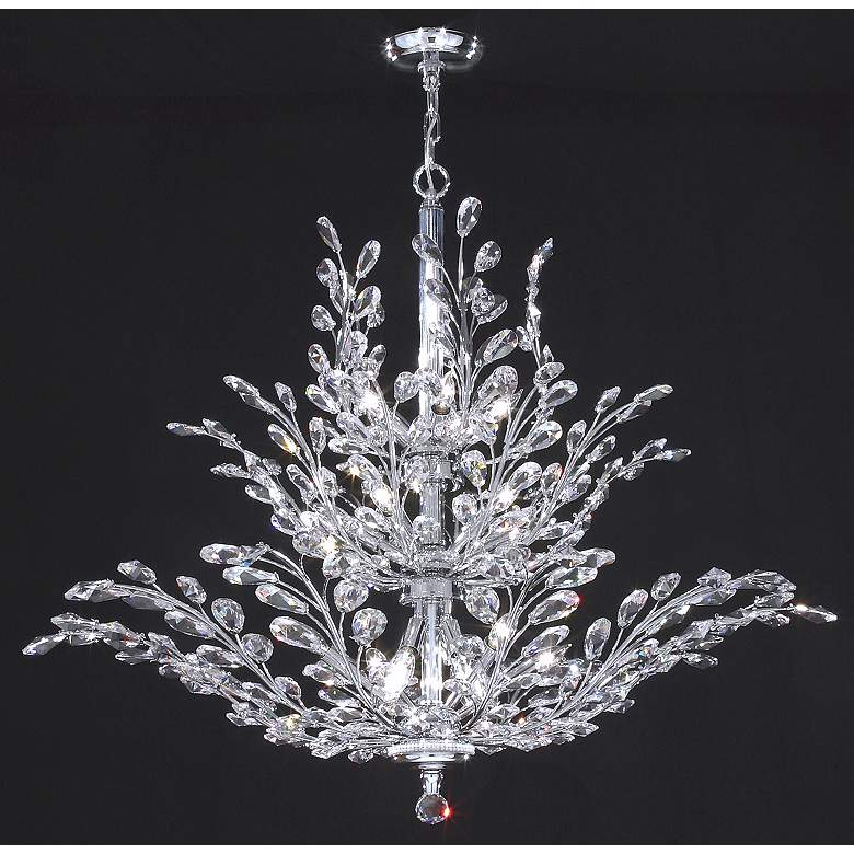 "James R. Moder Florale Collection Silver 38"" Wide Chandelier"