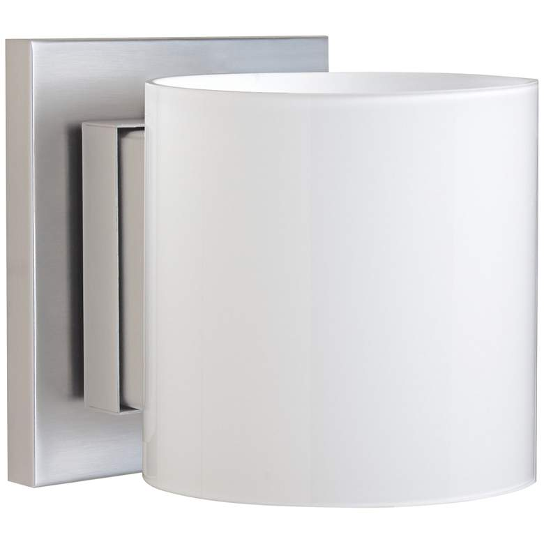 "Besa Pogo 5 1/2"" High Satin Nickel Wall"