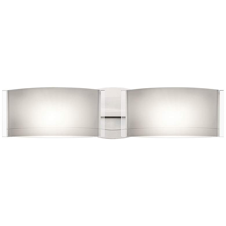 "Besa Jodi 5"" High Satin Nickel 2-Light Wall"