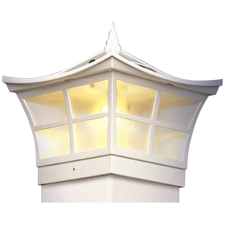 """Ambience 7 1/2"""" High White Outdoor Solar LED"""