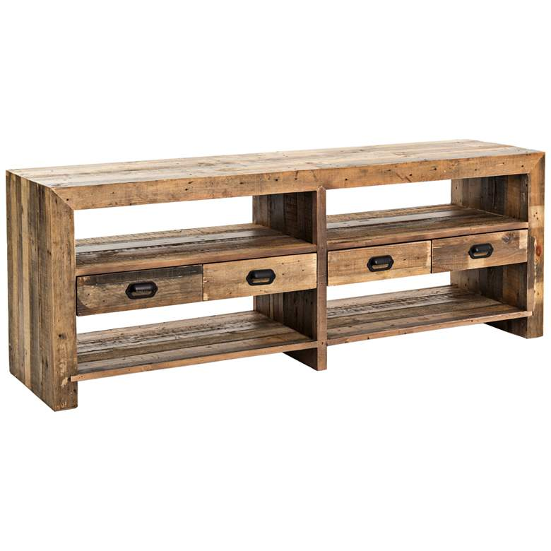 "Mariposa 70"" Wide Mixed Reclaimed Wood Media Console"