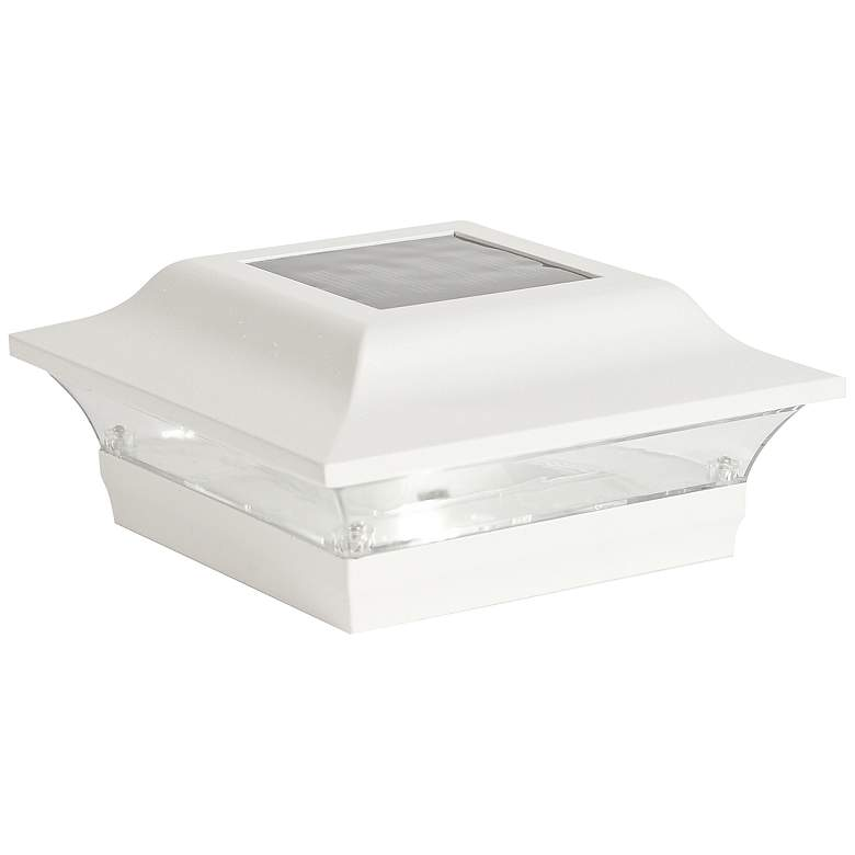 """Imperial 2 1/2"""" High White Outdoor Solar LED Post Cap"""