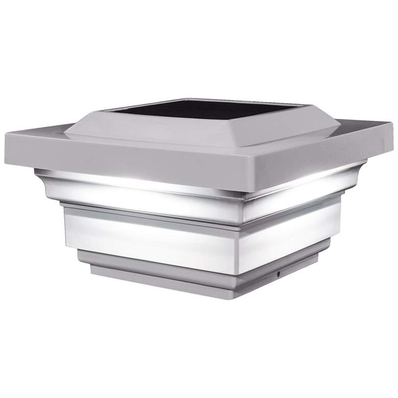 "Regal 3 3/4"" High White Outdoor Solar LED Post Cap"