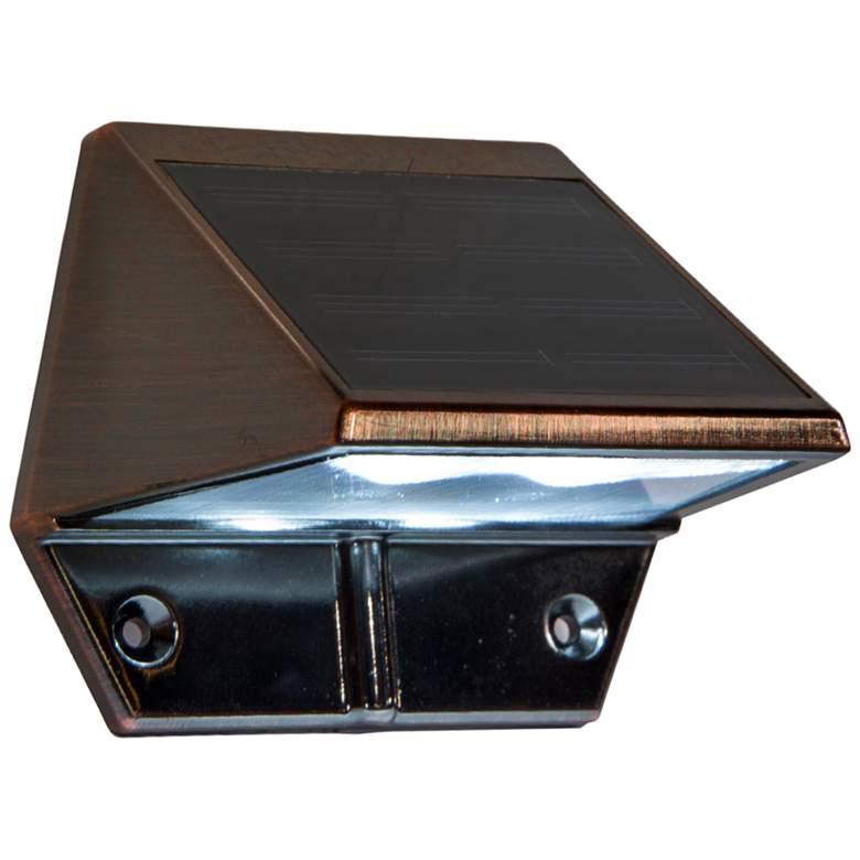 "Mystic 3"" High Electroplated Copper Solar LED Deck Light"