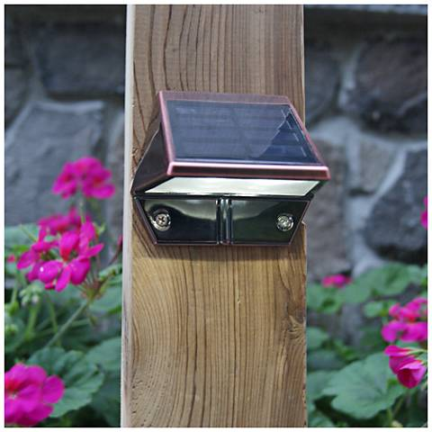 "Mystic 3"" High Electroplated Copper Solar LED Deck Light"