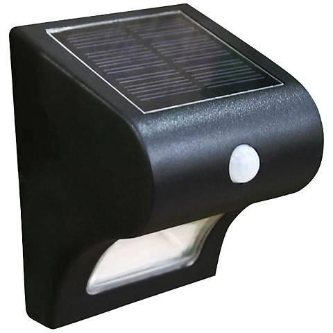 """Providence 5"""" High Black Solar Motion-Sensor Deck Light"""