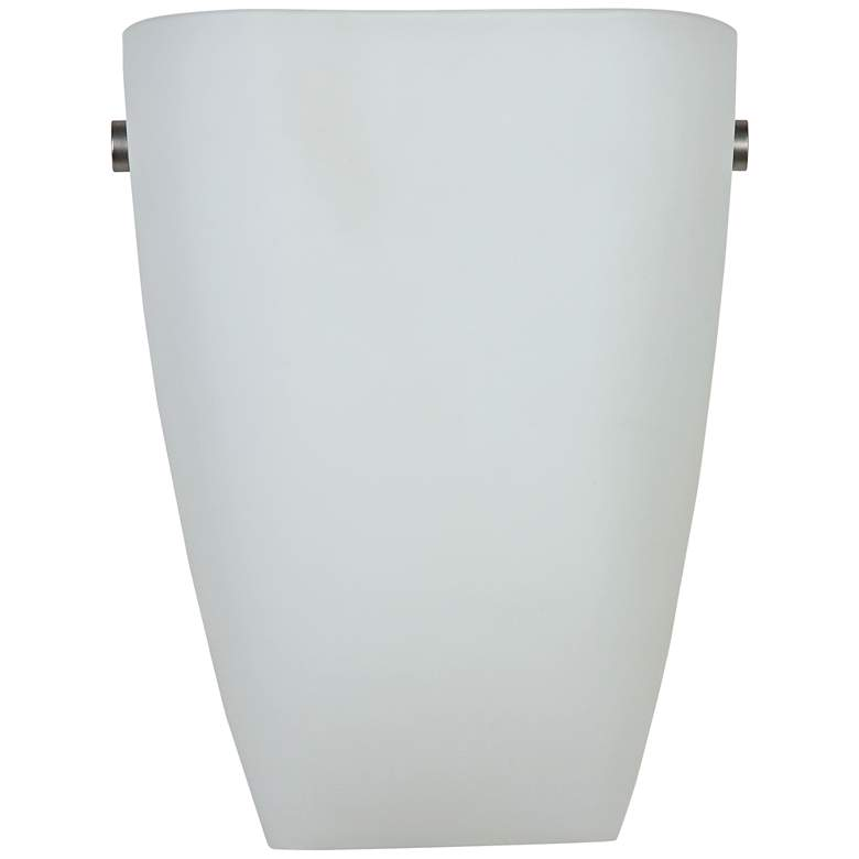 """Elementary 9""""H Brushed Steel and Opal Glass LED Wall Sconce"""