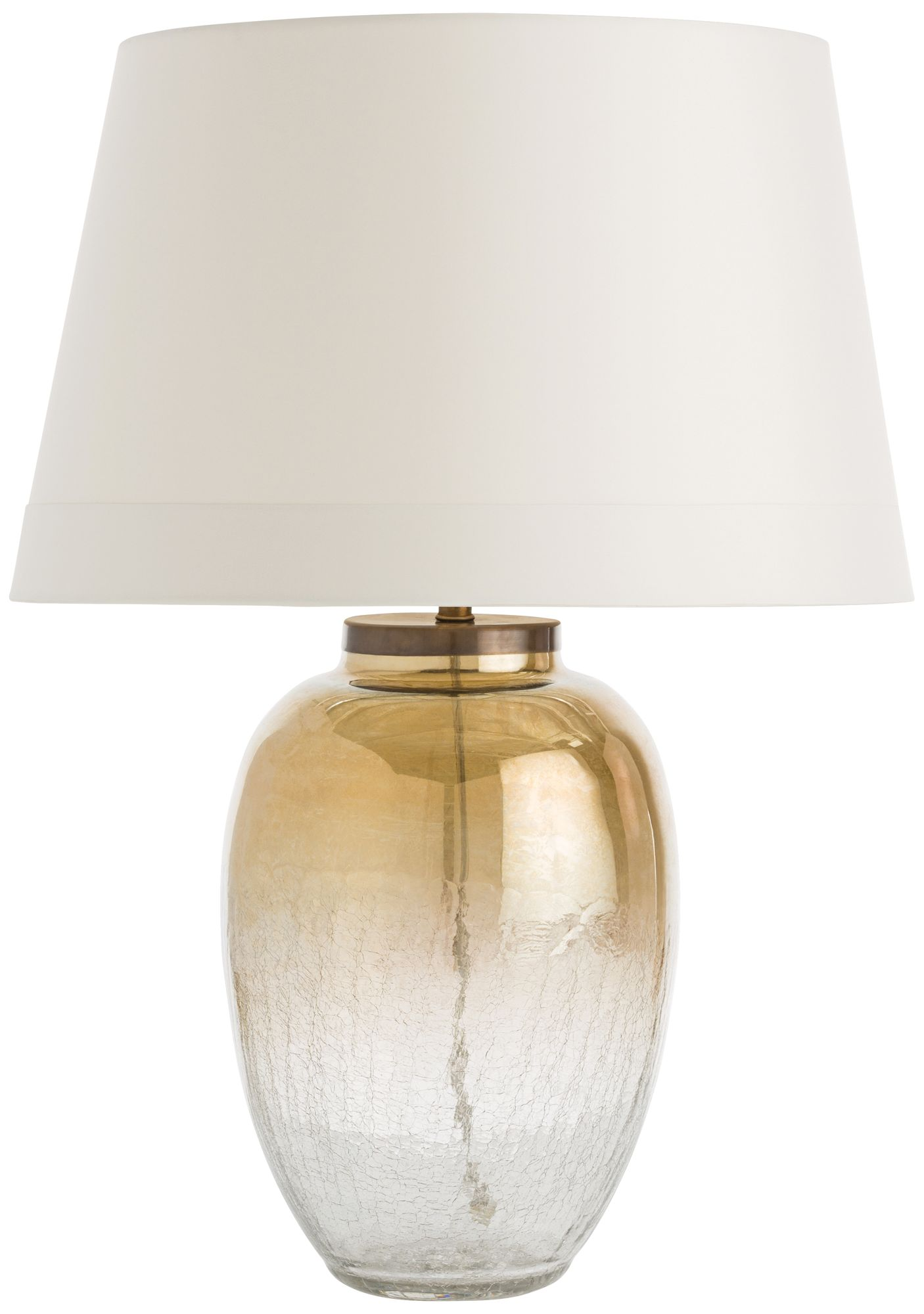 Arteriors Home Diane Crackle And Amber Glass Table Lamp