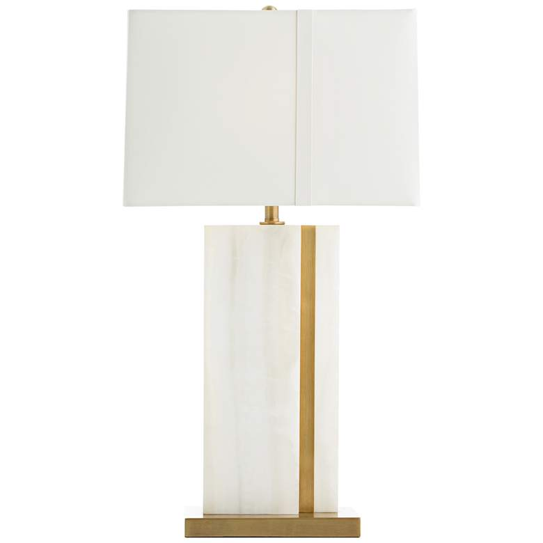 Arteriors Home Farrell White Onyx and Brass Table