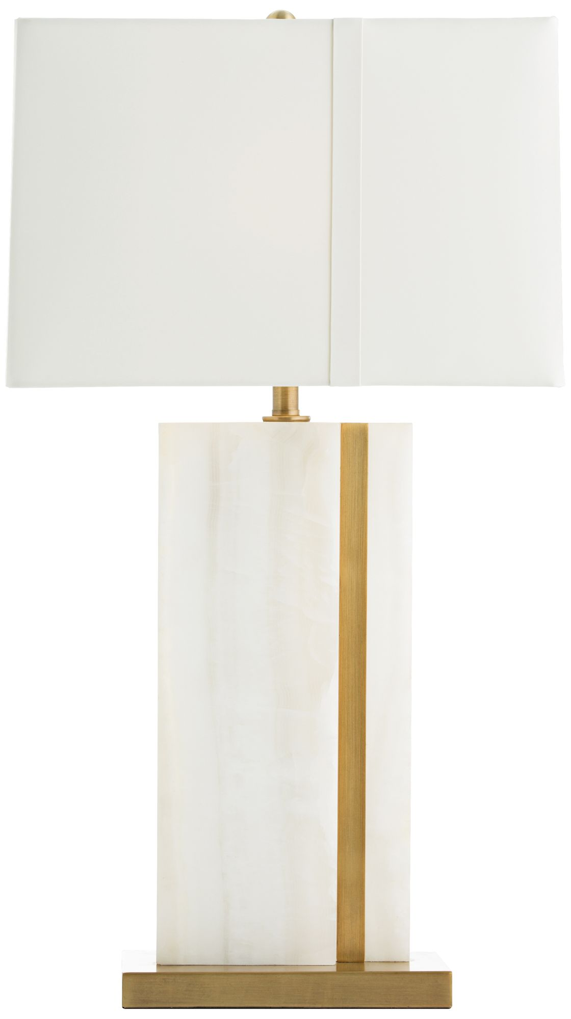 Arteriors Home Farrell White Onyx And Brass Table Lamp