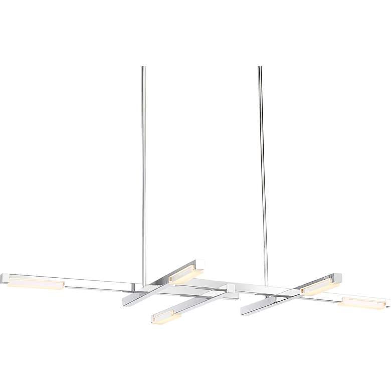 "Possini Euro Beemer 31"" Wide LED Chrome Linear Chandelier"