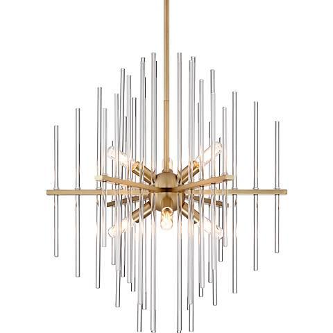 Possini euro ovana 20 12 wide clear glass rod chandelier 15c98 possini euro ovana 20 12 wide clear glass rod chandelier audiocablefo