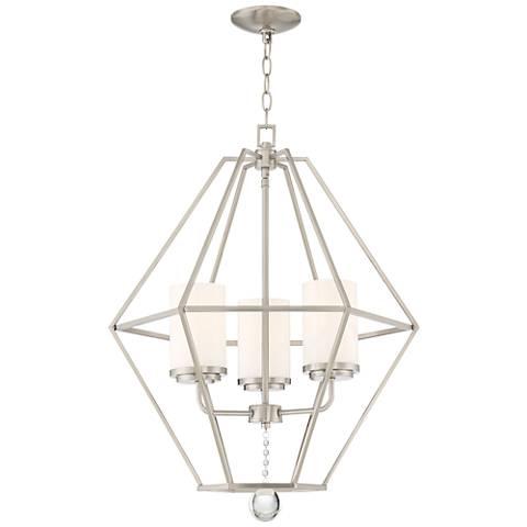 Garnett 22 12 wide brushed nickel 3 light foyer chandelier garnett 22 12 wide brushed nickel 3 light foyer chandelier aloadofball Choice Image