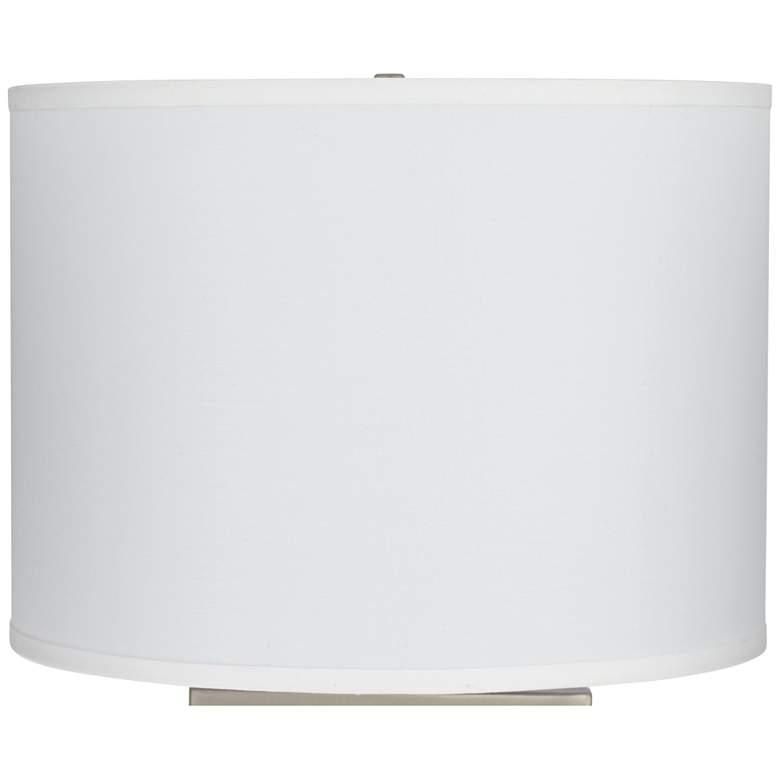 15D65 - White Sandstone Linen Drum Lamp Shade