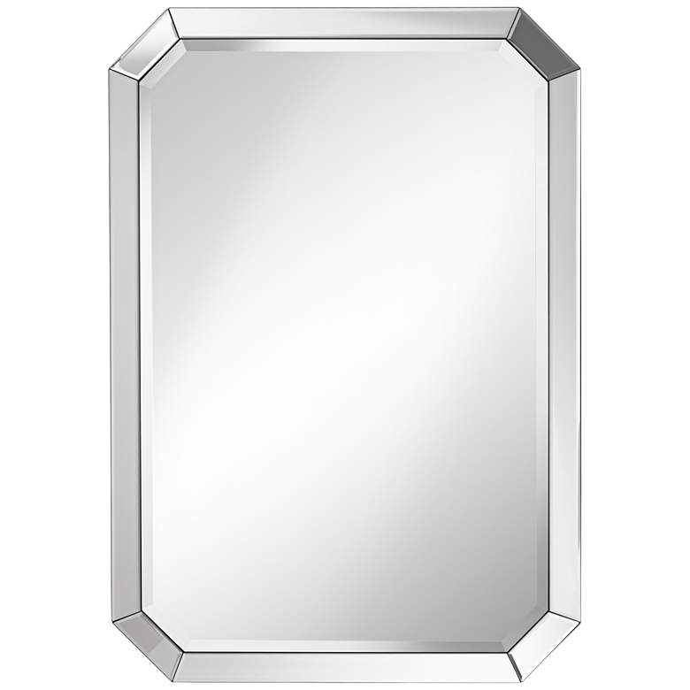 "Bevel Mirror Edge 28"" x 40"" Rectangular Wall Mirror"
