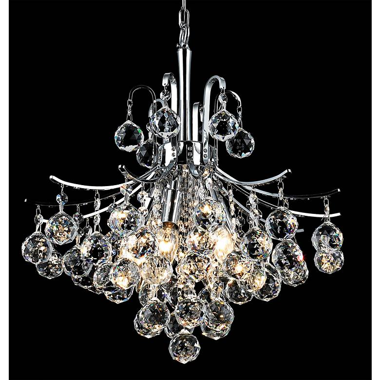 "Toureg 16"" Wide Chrome 6-Light Crystal Chandelier"