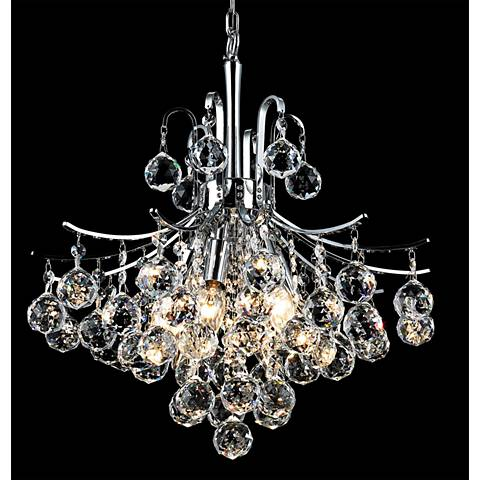 Toureg 16 wide chrome 6 light crystal chandelier 15f32 lamps plus toureg 16 wide chrome 6 light crystal chandelier aloadofball Images