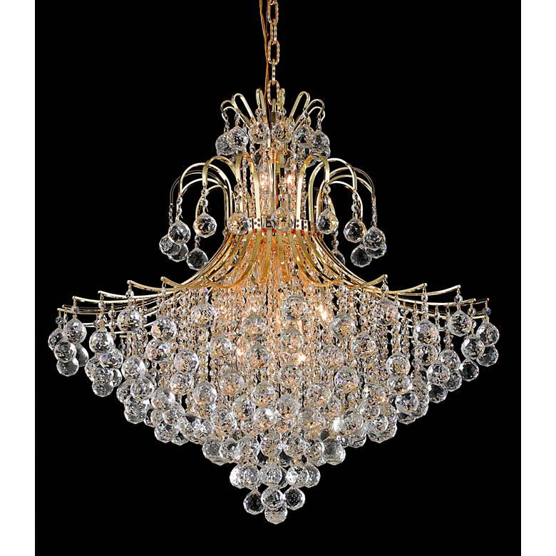 "Toureg 31"" Wide Gold and Crystal 15-Light Chandelier"