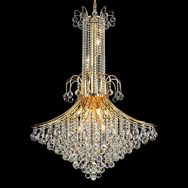 "Toureg 35"" Wide Gold 16-Light Crystal Chandelier"