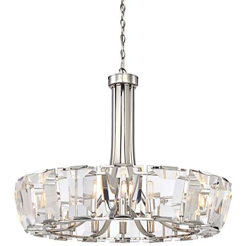 "Castle Aurora 33 1/4"" Wide Polished Nickel Chandelier"