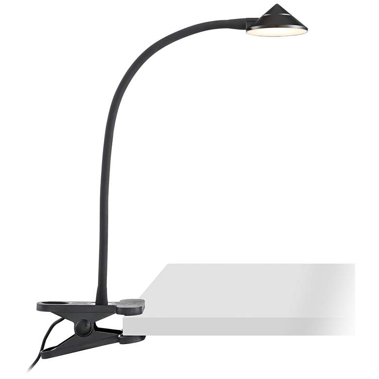 Black LED Clip Book Light - AC or USB Powered