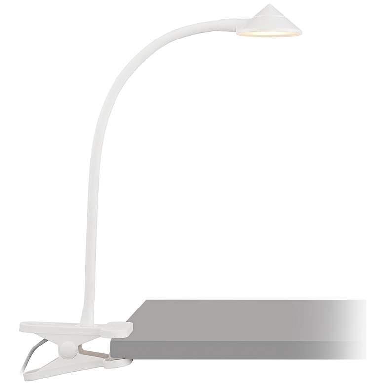 White LED Clip Light - AC or USB Powered