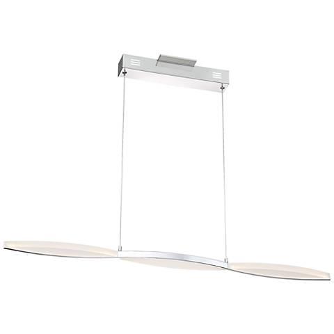 "Possini Euro Freya 39 1/4"" Wide Chrome LED Island Pendant"