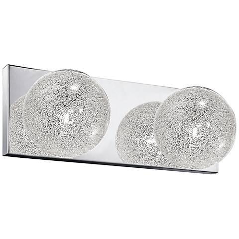 "Opulence 4 1/4"" High Mirrored Steel 2-Light Wall Sconce"