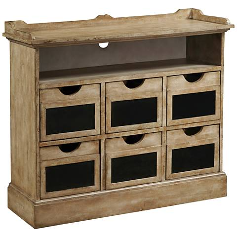 PFC Accents Final Straw Rustic Wood 6-Drawer Accent Chest