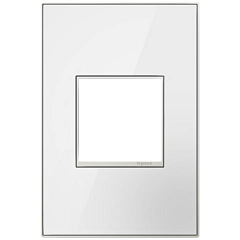 adorne® Mirror White on White 1-Gang Metal Wall Plate